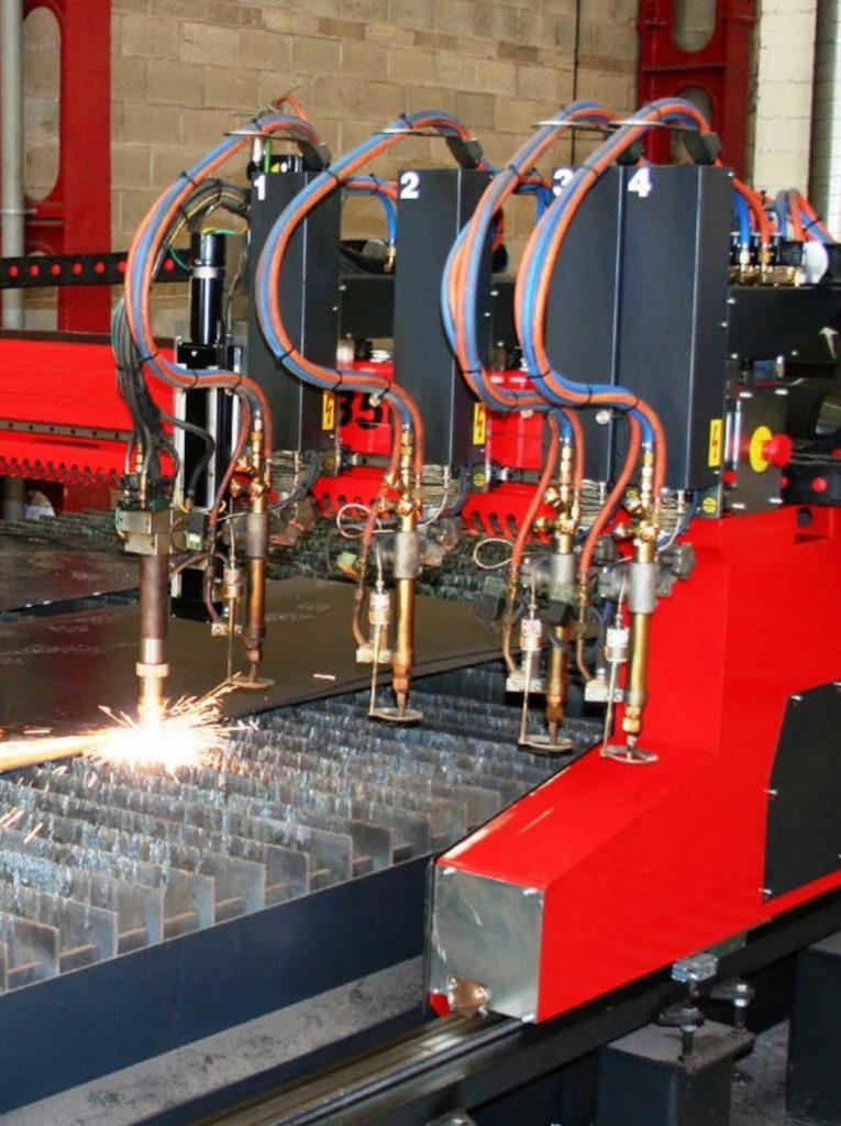 Image of cnc plasma cutting machine