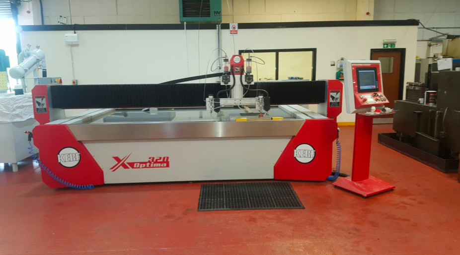 Optima 320 twin head waterjet machine